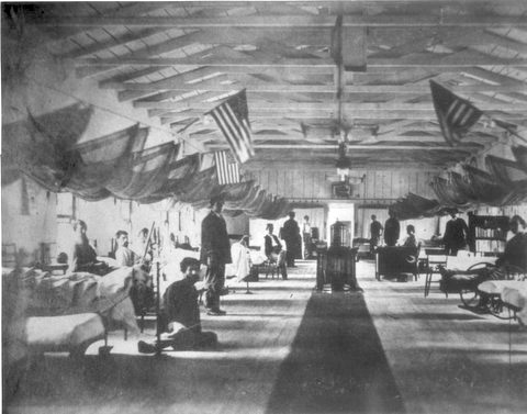 Ward in Armory Square Hospital.  Otis Historical Archives, National Museum of Health and