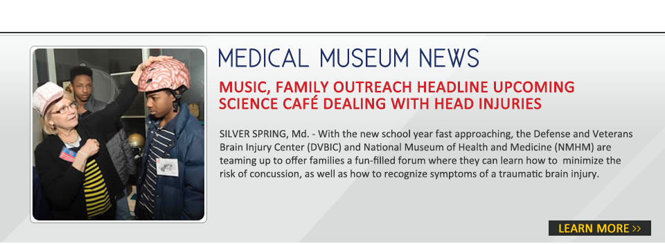 Music, family outreach headline upcoming Science Café dealing with head injuries
